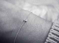 Tiny Silver Skull bracelet ~ Iwona Ludyga