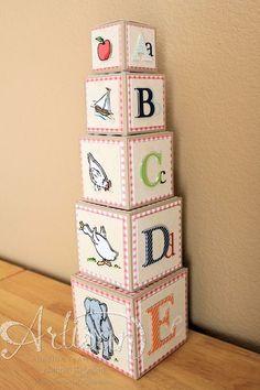 2013 Stampin' Up! Artisan Design Team winning entry, MDS 3D project, stacking/nesting blocks, Jeanna Bohanon