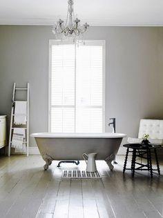 White floor bathroom