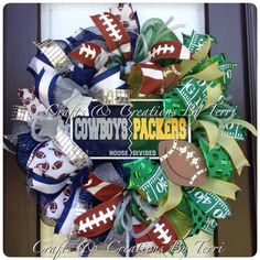 We need a Panthers/Packers wreath!!