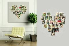 Arrange photos of us, and family, in a heart shape