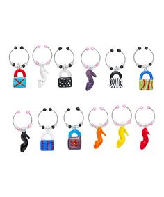 Take a look at this Fashionista Wine Charm Set by Boston Warehouse on #zulily today!