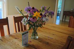 Flower arrangement, dining room inspiration.