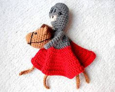Funky DIY crochet patterns on Etsy: Knight and Horse Lovey