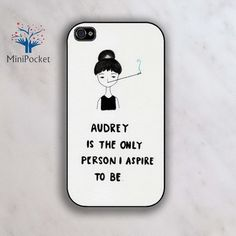 Want to be Audrey Hepburn - iPhone 4 Case, iPhone 4s Case, iPhone 5 case. $9.99, via Etsy.