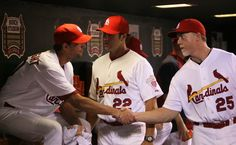 Adam Wainwright, Mike Matheny, Mark McGwire