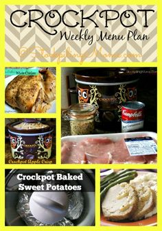 Crockpot Weekly Menu Plan will help you save time and money! #menuplan #recipes #slowcooker http://www.stockpilingmoms.com/2014/08/crockpot-weekly-menu-plan-13/