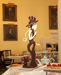 This chocolate creation was made by The Greenbrier's Pastry Chef Jean-Francois Suteau for Afternoon Tea.