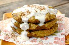 Pumpkin Cheesecake Waffles - pas de farine oh yeah!