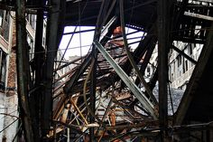 {I find all this tangle of steal to be insanely beautiful}.  Packard Plant Detroit 5/09 by Detroit Liger, via Flickr
