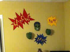 Superhero room decor for my older son