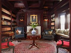 Gentleman 39 S Study On Pinterest Maple Floors Bar