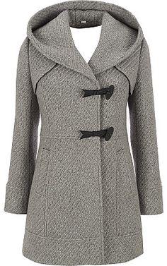 Jessica Simpson Tweed Hooded Coat - Wilsons Leather