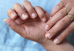 DIY Gold Striped Nails