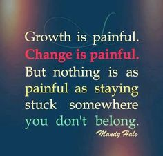 Growth and change!