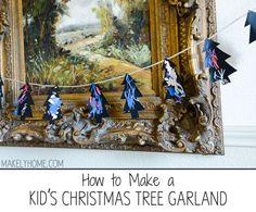easy Christmas garland for the kids to decorate via MakelyHome.com #easyholidayideas