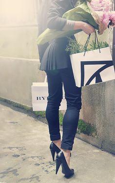 Black jacket, black shoes, all black