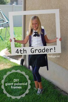 DIY giant #polaroid frame | NoBiggie.net
