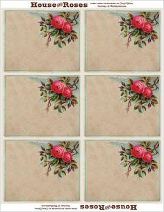 rose printable labels (customizable)