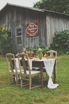 Farm luncheon tablescape