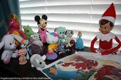 Elf on the Shelf Ideas including Elf Reads a Book to Friends #elfontheshelf #elfontheshelfieas