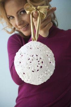 Christmas Ornament Ball, Crochet