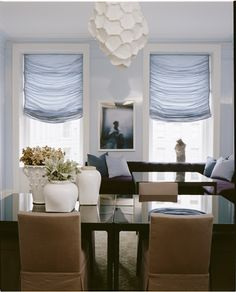 The shades are gasp-worthy. Interior design by Stephen Sills Associates
