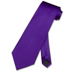 100% SILK NeckTie Solid PURPLE Indigo Men's Neck « Clothing Impulse