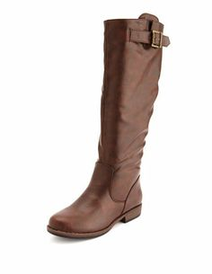 Knee-High Buckled Riding Boot: Charlotte Russe