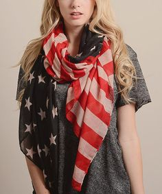 This American Flag Star-Spangled Scarf by Leto Collection is perfect! #zulilyfinds