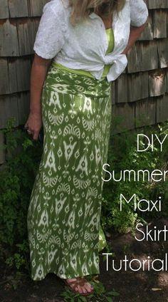 DIY Summer Maxi Skirt Tutorial After