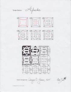 Bee Zen: Afreeka - New Tangle by Denyse Gower Jones, Certified Zentangle Teacher