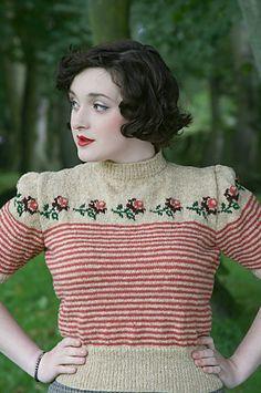 knitting patterns, vintage knitting pattern, vintage patterns, vintage sweaters, vintage roses