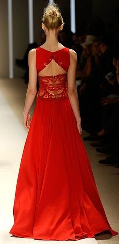 Lady in RED...Long Red gown