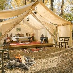 I'm not a good camper. (Ask my family). But glamping? I could do this! :)