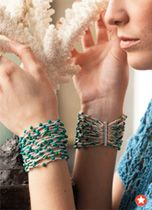 Crochet Special Collector's Issue 2012 Fashion Preview bead cuff, crochet bracelet