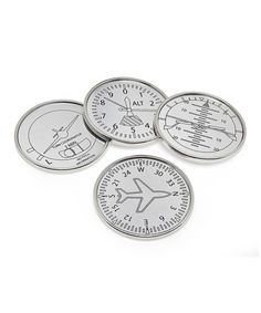 Protect tabletops in style with these Airplane Coasters by Godinger #zulily #zulilyfinds