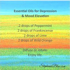 Essential Oils for Depression & Mood Elevation
