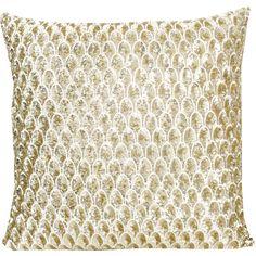 Pyar&Co Metallic Gold Luxe Pompano Throw Pillow found on Polyvore