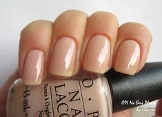 OPI No Bees Please nails. Nude.