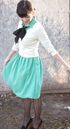Cute outfit.....my fav color ever!