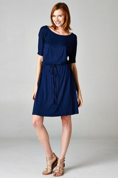 Carrie Dress in Navy