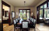 decor, wood trim, trim design, floor, color, classic dark, dark wood, dark trim, hous