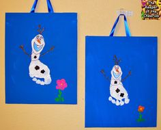 Frozen Olaf Footprint Craft