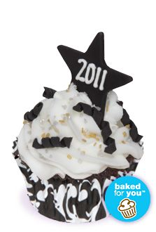 New Year's Eve cupcake
