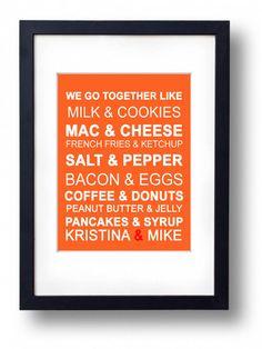 Kitchen Sign Kitchen ArtWe Go Together Modern for by Eyecharts, $18.00