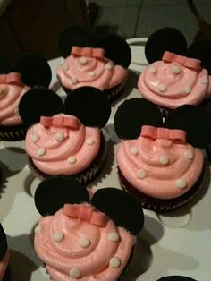 Minie mouse cupcakes