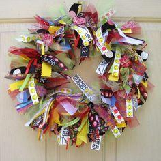 Back to School Wreath, Teacher Classroom Wreath, School Teacher Gift, Teacher Appreciation, Fall Wreath. $55.00, via Etsy.