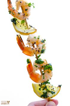 Shrimp Scampi Skewers by gimmesomeoven #Skewers #Shrimp #Healthy