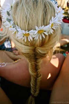 blonde braid flowers